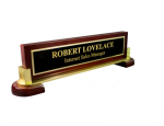 High Gloss Rosewood and Metal Name Block Boss Gift Awards