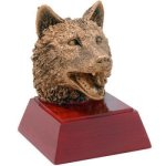 Resin Sculptures -Wolf Mascot Resin Trophy Awards