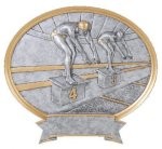 Legend Oval Award -Swimming Oval Resin Trophy Awards