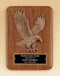 American Walnut Plaque with Eagle Casting Recognition Plaques